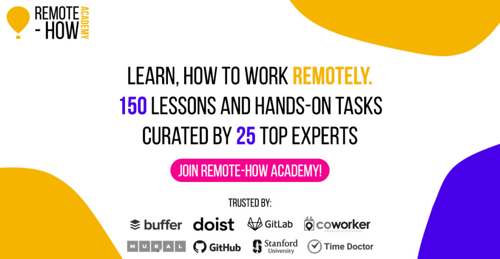 Remote-how Academy, learn how to work remotely